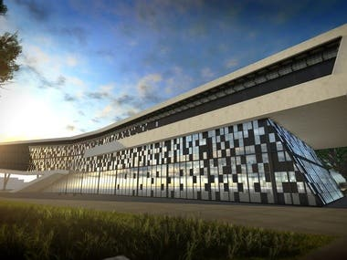 Desing 3d for architecture develop
