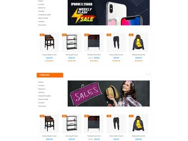 21 Pages Ecommerce Website
