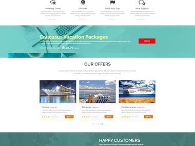7 Pages Travel Website