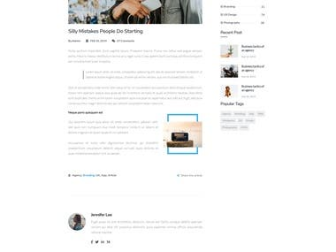 3 Pages PSD to HTML App Landing