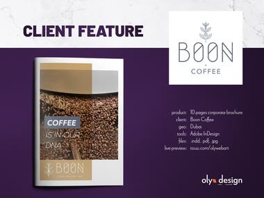 Corporate brochure // Boon Coffee