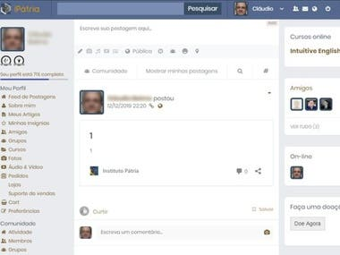 Social Network for Instituto Pátria