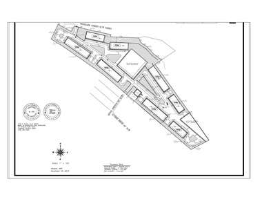 Site plan for a multi-family residential in Greenville, SC