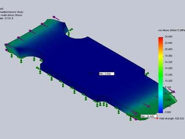 FEA Study using SolidWorks Simulation