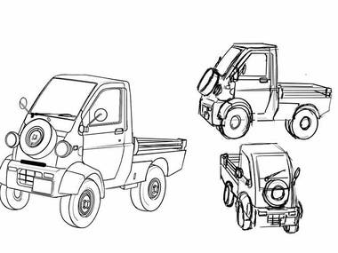 Concept Art - Car Design + Views