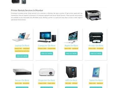 Computer Renting Website