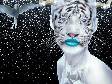 The White Tigress (Collage I)