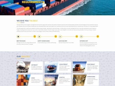 Website for a Shipping Company