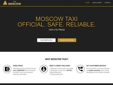 CRM and website for taxi booking