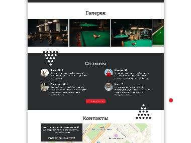Concept Design Landing page for Club MINSK