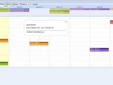 event calendar module