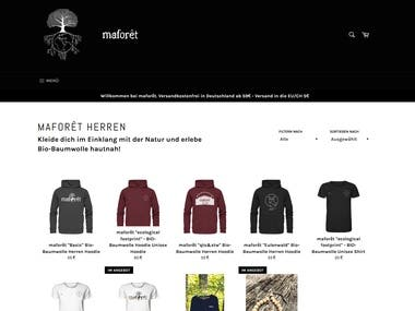 Website for Fashion Brand