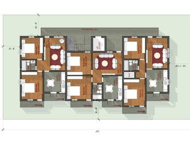colored humanized floor plans