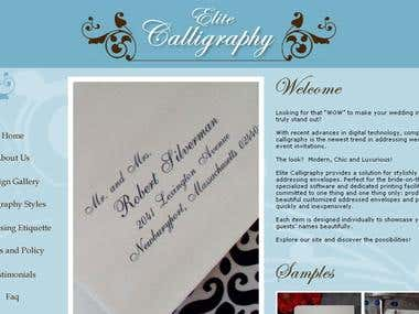 Elite Calligraphy an ecommerce site to sell wedding invites