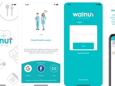React Native Walnut Wellness App