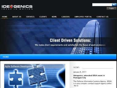 Ideogenics a site for a Corporate Business
