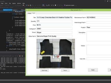 Desktop application based on .Net Framework.
