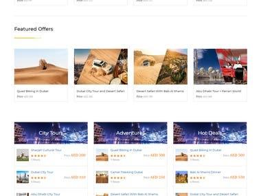 Website for Dubai travel agency