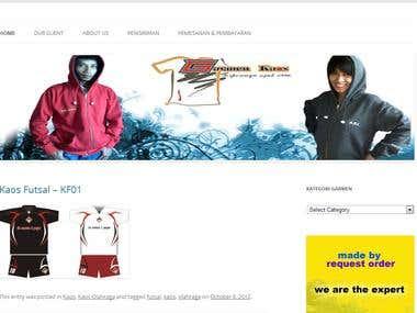 Website for Garmen Kaos