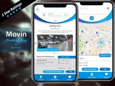 Parking App(Android + IOS)