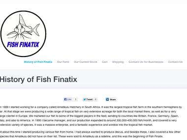 Fish Finatix Site: COMPLETED via Barter and Cash