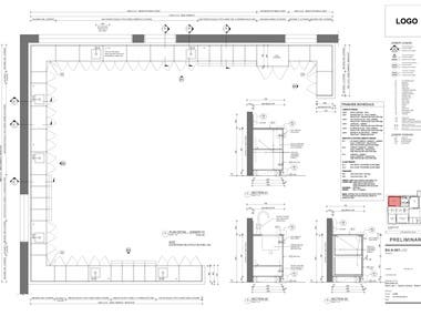 Joinery - Millwork Drafted - Australian Firm - AutoCAD