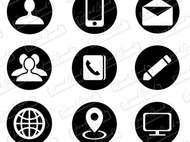 Custom icons for an mobile application