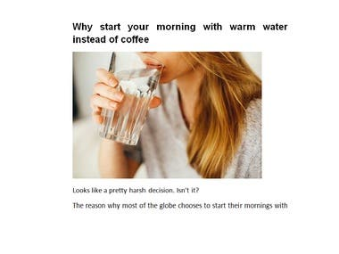 Why start your morning with warm water instead of coffee