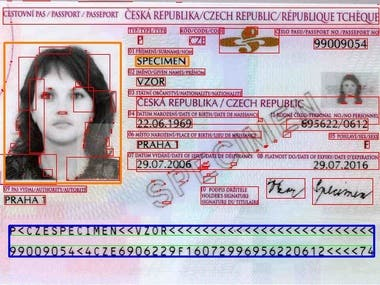 ID card reading and OCR