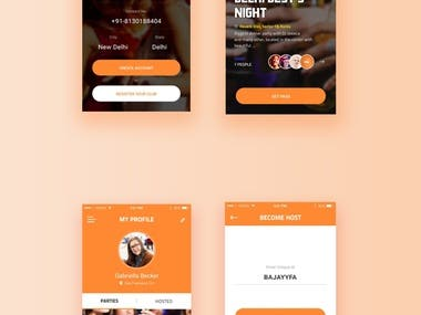 PartyNama - Event booking and Club App