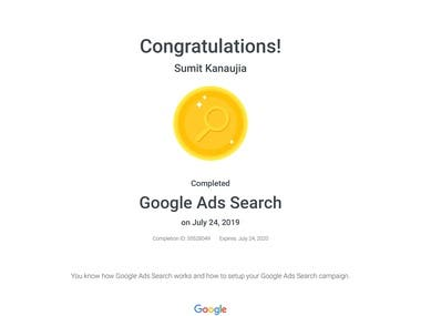 Google Search Ad Certified