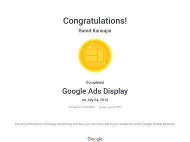 Google Display Ad Certified