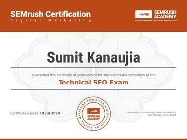 Semrush SEO Certified