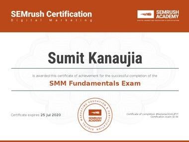 Semrush Social Media Marketing (SMM) Certified