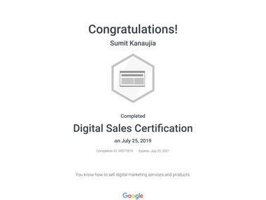 Google Digital Sales Certified
