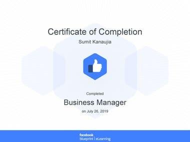 Facebook Blueprint Business Manager Certified