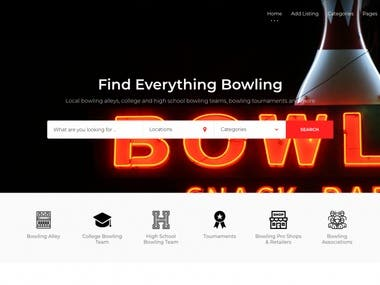 Bowling Listing Website Re-Design for Bowlingfirst.com