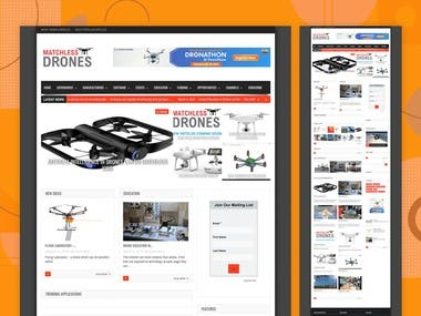Drone Review Website Re-Design for Matchlessdrones.com