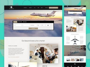Charter Airline website Re-Design for Centurionjets.aero