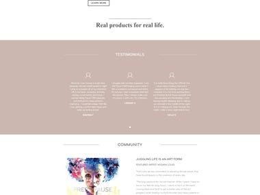 WooCommerce responsive website