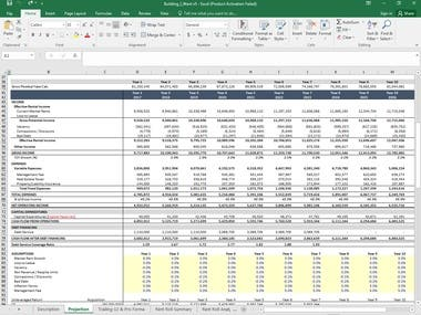 Financial modelling working