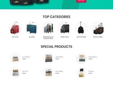 Online Bags selling E Commerce portal