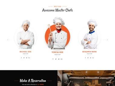 Online Restaurant booking project
