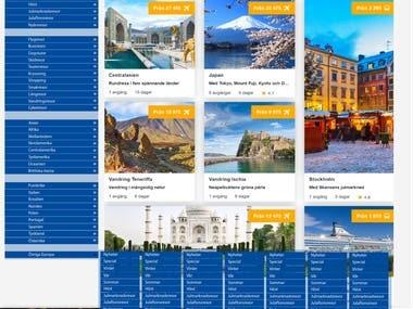 Sidebar Menu Design For a Travel Agency