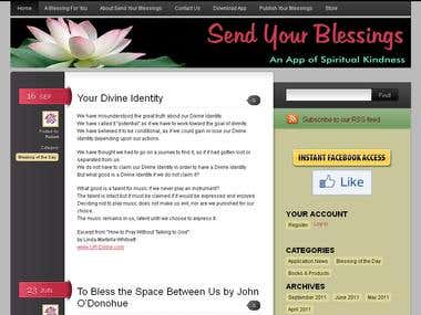 Send Your Blessings - An App of Spiritual Kindness