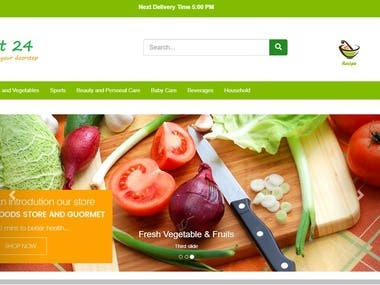 Cart24 Online Grocery Store