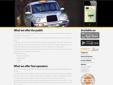 Cabwebs taxi Application Website