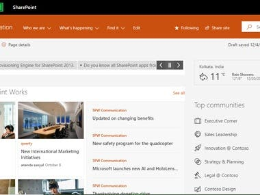 SharePoint Modern Communication Site Design