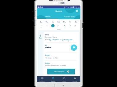 Schedule Hybrid App(React Native)