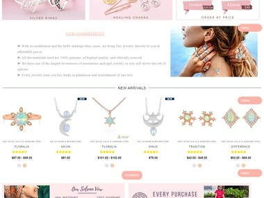 E-Commerce Shopify Web Designing-gemstonesilverjewelry.us